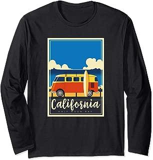 California Surfing Mavericks Half Moon Bay Summer Surf Gift Long Sleeve T-Shirt