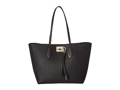 Salvatore Ferragamo The Studio Tote (Nero) Handbags
