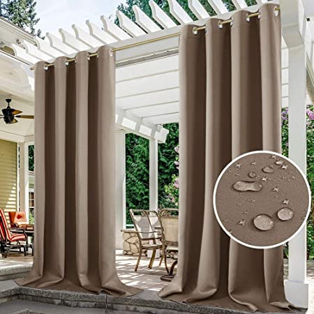 Mingfuxin - Cortinas exteriores de jardín o patio, protector ...