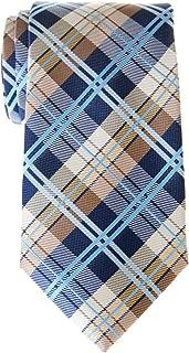 Retreez Elegant Tartan Plaid Check Woven Microfiber Men's Tie - Various Colors