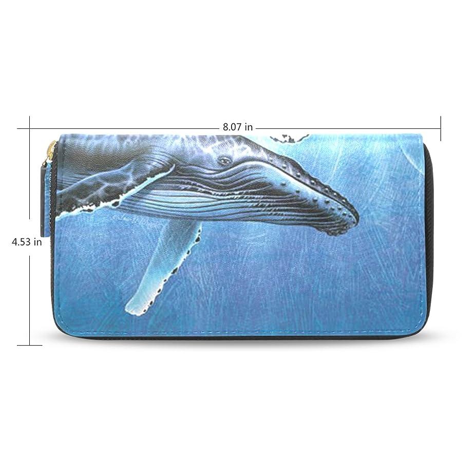 クライマックス導入するありふれたレディースWhaleパターン長財布&財布ケースカードホルダー