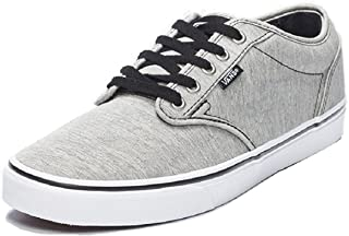 Vans Boys VN0003Z9ILI Boy's Atwood (Washed Jersey) Gray/White Skateboarding Shoes