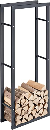 [en.casa] Porte-Bûches Robuste Range-Bûches Solide Support pour Bois de Chauffage Rangement Efficace pour Intérieur E...