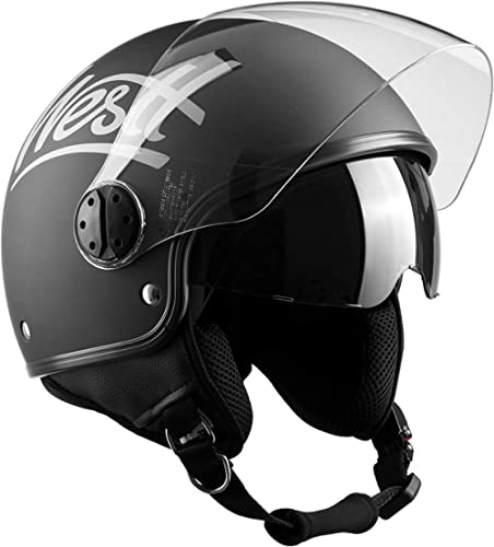 Open face helmet with long visor H710-RT-XL
