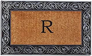 Home & More 10002SILVR Prestige Silver Monogram Doormat (Letter R)