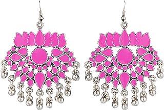 Jewel Pari Boho Vintage Antique Ethnic Gypsy Tribal Indian Oxidized Gold Tassel Jhumka Dangle Earrings Set Jewelry