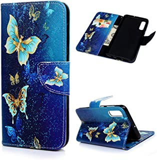 2018 Lomogo Galaxy J6 2018 H/ülle Leder Schutzh/ülle Brieftasche mit Kartenfach Klappbar Magnetverschluss Sto/ßfest Handyh/ülle Case f/ür Samsung Galaxy J6 - LOBFE130129 Blau