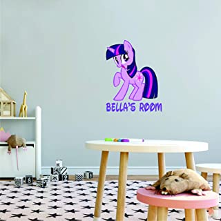 My Little Pony Art Sticker Personalized Custom Name Wall Decals Wall Design Stickers Vinyl Removable Children Kids Rooms G...