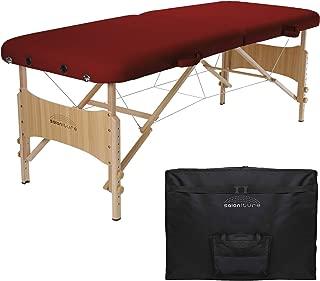 Saloniture Basic Portable Folding Massage Table - Burgundy