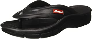 Paragon Men's Black Flip Flops Thong Sandals - 11 UK/India (46 EU) (EV1125G)