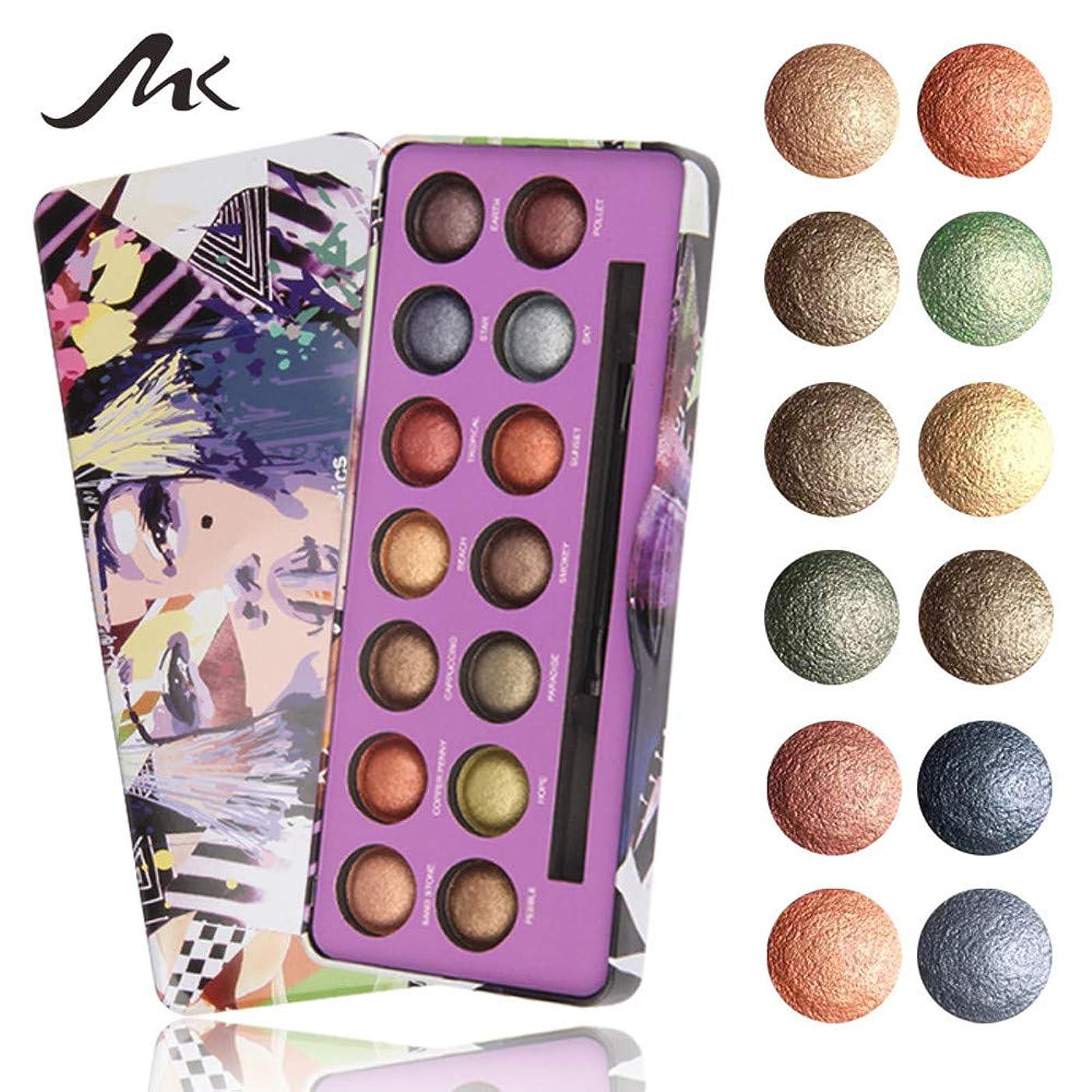 ランク明らかベギンAkane アイシャドウパレット MK 綺麗 人気 気質的 真珠光沢 チャーム 魅力的 マット つや消し 長持ち ファッション 防水 おしゃれ 持ち便利 Eye Shadow (14色) 8293