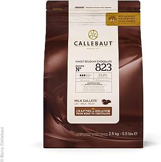 Callebaut Recipe No. 823 Finest Belgian Milk Chocolate With 33.6% Cacao, 20.8% Milk, 5.51 Pound