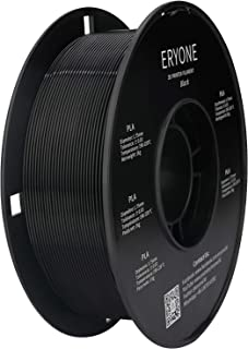 Filament PLA 1.75mm, ERYONE PLA Filament 1.75mm, Imprimante 3D Filament PLA Pour Imprimante 3D, 1kg 1 Spool,Noir