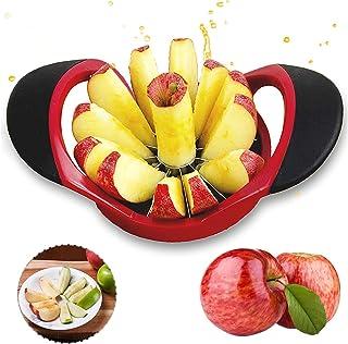 Rosa munloo Cortador Manzana Pelador de Manzanas de 12 Cuchillas Cortador de Frutas de 10 cm con Acero Inoxidable Ideal para Manzanas y Peras