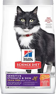 Hill's Science Diet Dry Cat Food, Adult, Sensitive Stomach & Skin Recipes