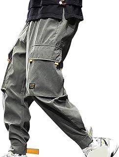 XYXIONGMAO Hip Hop Joggers Streetwear Cargo Pants for Men Casual Multi-Pocket Harem Pants Loose Overalls