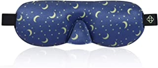 Lonfrote New Generation Star Moon Sleep Mask 3D Contoured Molded Eyes Blinking Lightweight Comfortable Eye Masks Adjustable with Earplugs Carry Pouch for Men Women Shift Work Naps and Travel (Blue)