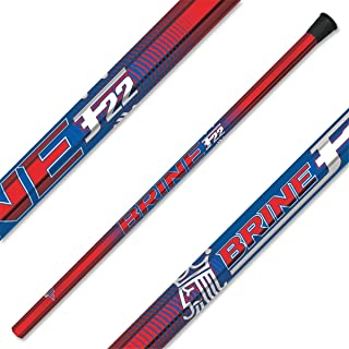 Brine F22 Limited Edition Attack Lacrosse Shaft Red and Royal Blue