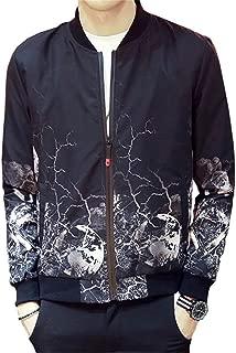 Fashion Printed Slim Fit Jacket Coat