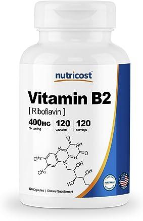 Nutricost Vitamin B2 (Riboflavin) 400mg, 120 Capsules
