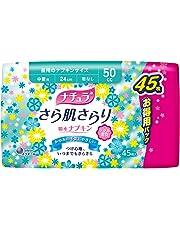 ナチュラ さら肌さらり 吸水ナプキン 中量用 50cc 24cm 45枚 【軽い尿もれの方】【大容量】