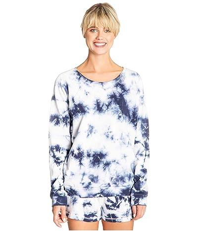 P.J. Salvage Tie-Dye Lounge Sweatshirt (Navy) Women