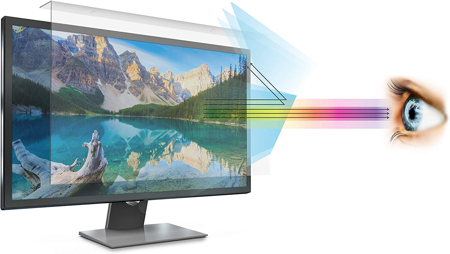 Anti Blue Light Screen filter for 20 Inches Desktop Monitor, Screen Filter size is 10.6