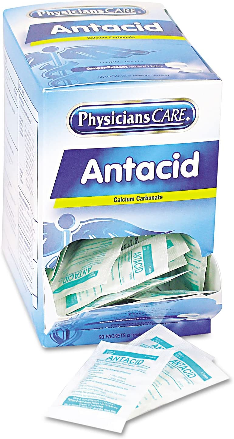PhysiciansCare Selling rankings 90089 Antacid Calcium Sale price Two-P Medication Carbonate