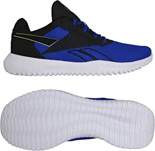 Reebok Men's Flexagon Energy Tr 2.0 Track Shoes, Black/Humble Blue/Hero Yellow
