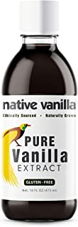 Native Vanilla - All Natural Pure Vanilla Extract – 16 oz - Made from Premium Vanilla Bean Pods – For Chefs and Home Cooki...