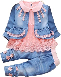 YYA Leisure Spring Trend 3 Pieces Sets T-Shirt&Cowgirl Suit