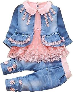Leisure Spring Trend 3 pièces Ensembles t-Shirt et Costume de Cow-Girl