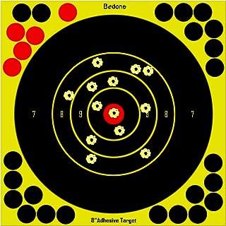 8 Inch Self Adhesive Shooting Targets, 60 & 30 Pack Splatter Reactive Targets, Visual Feedback, Paper Sticker Target 28 Co...