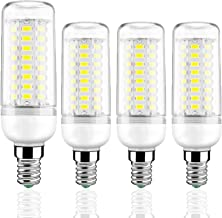LED Corn Bulbs 12W 1200Lm, 100W Incandescent Bulbs Equivalent, E14 Small Edison Screw Candle Bulb for Chandeliers, Wall Li...