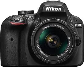 2017 Nikon D3400 24.2 MP DSLR Camera + AF-P DX NIKKOR 18-55mm f/3.5-5.6G VR Lens (Black) (Renewed)