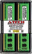 کیت A-Tech 8 GB (2X 4GB) DDR3 1333MHz PC3-10600 ماژول های رم حافظه دسک تاپ (240 پین DIMM)