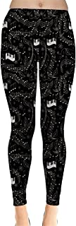CowCow Womens Black Beautiful Musical Pattern Notes and Pian