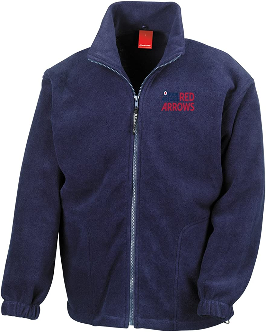 Official Royal Air Force Full Zip Heavyweight Fleece Jacket Military Online RAF Red Arrows Logo