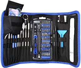 KeeKit Screwdriver Set, 86 in 1 Magnetic Repair Tool Kit with 56 Screwdriver Bits, Precision Electronics Screwdriver Kit with Portable Bag, Anti-Static Wrist Strap for Watches, Smartphones, Laptops