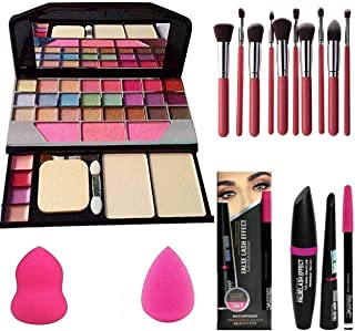 Shiv enterprises Combo of Face Makeup Kit With 7pcs Makeup Brush Set Different Size With Tya 6155 Makeup Kit + 2 Pc Beauty...