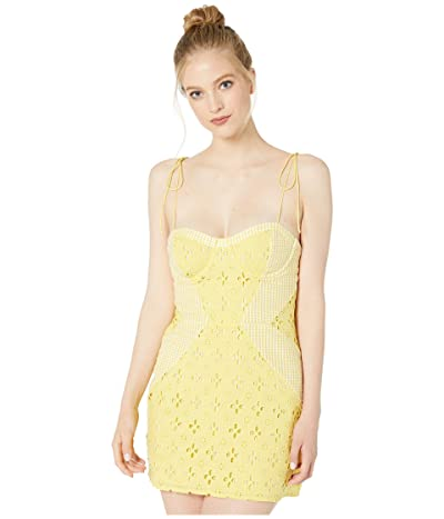 For Love and Lemons Picnic Mini Dress (Sunshine) Women