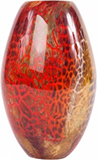 Luxury Lane Hand Blown Multicolor Abstract Art Glass Vase 9.5 inch Tall