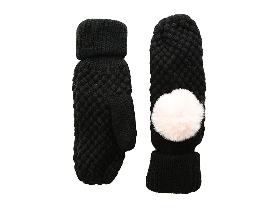 Tundra Boots Kids Knit Mittens (Black) Extreme Cold Weather Gloves