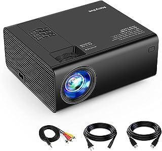 ManyBox Mini proyector, 3500 Lux proyector de vídeo portátil con 45000 Horas de Vida de lámpara LED, Full HD 1080P Compati...