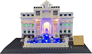 QXue Blocks LED Lighting Kit,Compatible with Lego 21020 (Rome Trevi Fountain Building) Building Blocks Model (Building Blo...