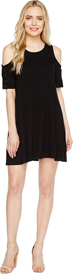 Culture Phit - Veronica Cold Shoulder Dress with Lace-Up Detail