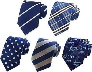 MOHSLEE Men's Lot 5 PCS Formal Tie Rice Flowers Neck Ties Silk Neckties Set of 5