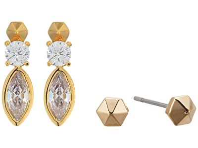 AllSaints Marquis Duo Earrings Set (Crystal/Gold) Jewelry Sets