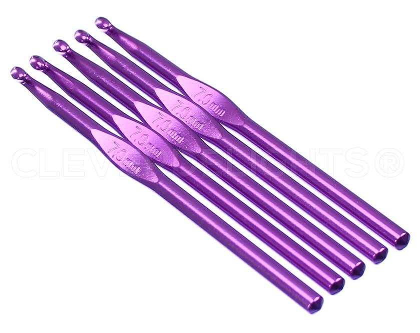 5 Pack - CleverDelights Size K/L (Size 10.75) Aluminum Crochet Hooks - 6