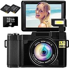 Digital Camera Vlogging Camera 2.7K 30MP Ultra HD Camera...